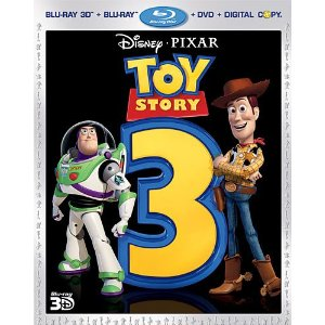 Toy Story 3 (Five-Disc Combo: Blu-ray 3D/Blu-ray/DVD + Digital Copy) (2010)     Tom Hanks   (Actor) ,  Tim Allen   (Actor) ,  Lee Unkrich   (Director)   |   Rated:  G  |   Format:  Blu-ray        $30.53                  The creative minds behind Disney-Pixar's groundbreaking animated blockbusters invite you back inside the toy box for a heartwarming and hilarious Blu-ray 3D experience you'll that takes the story off your screen and into your living room!