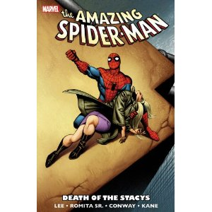 Spider-Man: Death of the Stacys  [Paperback]        Stan Lee   (Author),  John Romita  (Illustrator),  Gerry Conway  (Illustrator),  Gil Kane  (Illustrator)      $13.59            The deaths that still shape the Spider-verse! During the early 1970s, a pair of plotlines changed comic-book mortality forever. Shock followed shock when Spider-Man lost a friend, a lover and an enemy in a dynamic drama that stunned readers as no comic deaths had before and few have since!