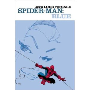 "Spider-Man: Blue [Paperback] Jeph Loeb (Author), Tim Sale (Illustrator) $19.24  ""It's about remembering someone so important to me I was going to spend the rest of my life with her."" What Peter Parker didn't know was that meant Gwen Stacy would only get to spend the rest of her life with him. This is the story of how they fell in love. Or more appropriately, how they almost didn't fall in love. Welcome to Spider-Man's life. Bad before good. It's kind of amazing. So to get the girl of his dreams, he'll have to run the gauntlet of the Green Goblin, the Rhino, two Vultures and a mysterious man in the shadows controlling it all."