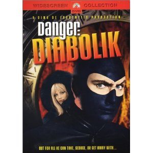 Danger: Diabolik (1968)     John Phillip Law   (Actor) ,  Marisa Mell   (Actor) ,  Mario Bava   (Director)   |   Rated:  PG-13  |   Format:  DVD        $57.99            The suave, psychedelic-era thief called Diabolik (Law) can't get enough of life's good - or glittery - things. Not when there are currency shipments to steal from under the noses of snooty government officials and priceless jewels to lift from the boudoirs of the superrich. The elusive scoundrel finds plenty of ways to live up to his name in this tongue-in-cheek, live-action caper inspired by Europe's popular Diabolic comics.