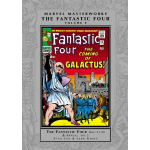 Fantastic Four, Vol. 5 (Marvel Masterworks)  [Paperback]       Stan Lee  (Author),  Jack Kirby  (Illustrator)      $16.49            The legendary team of Stan Lee and Jack Kirby are back to take the Fantastic Four on some of their greatest adventures! Watch as the First Family does battle with the Invincible Man, the Fightful Four, Dr. Doom and fights alongside the Sub-Mariner for the very first time! All this plus the fights, frustrations and financial troubles that make up the world's most fantastic family!