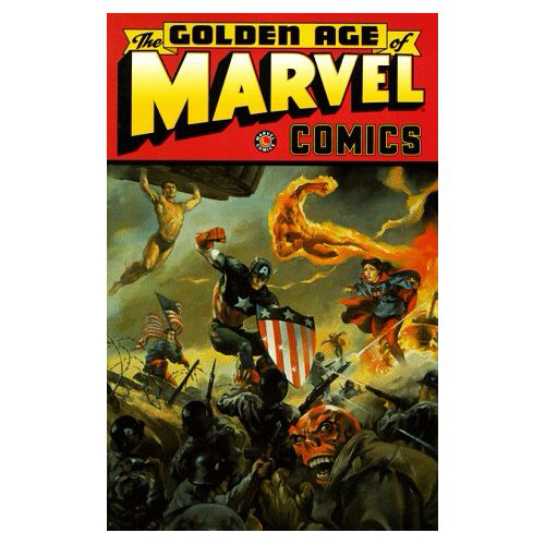 The Golden Age of Marvel Comics, Vol. 1 [Paperback]    Jack Kirby (Author), Carl Burgos (Author), Joe Simon (Author), Ron Garn (Author), Gustav Gus Schrotter (Author), Bill Everett (Illustrator), Carl Pfeufer (Illustrator), Syd Shores (Illustrator), Mike Sekowsky (Illustrator), Roy Thomas (Introduction)    11 new from $13.22 15 used from $7.01 1 collectible from $9.95    Released in 1997, The Golden Age of Marvel Comics volume 1 is a collection of early comic book stories from the Golden Age of comic books. Featuring Marvel Comics' Big Three: Captain America, The Sub-Mariner and the original Human Torch, along with stories of other characters like The Vision, The Destroyer, The Angel, and the Black Knight, this is a book that every fan of old comic books will enjoy again and again.