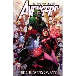 Avengers: The Children's Crusade  [Paperback]        Allan Heinberg   (Author),  Olivier Coipel  (Illustrator),  Jim Cheung  (Illustrator),  Alan Davis  (Illustrator)      $19.79            The Young Avengers are the heroes of tomorrow. But two of their members - twin brothers Wiccan and Speed - are boys without a past. When Wiccan's powers begin spiraling out of control, the team sets out to find the one person who might be able to help: the Scarlet Witch, who may be the twins' mother, and whose own uncontrollable powers once almost destroyed the Avengers and nearly wiped out the mutant race. Their search will take them across the world and through time, reunite them with friends thought lost, and pit them against enemies they have no hope of defeating.