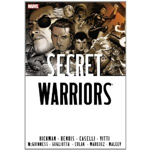 Secret Warriors Omnibus [Hardcover] Brian Michael Bendis (Author), Jonathan Hickman (Author), Alex Maleev (Illustrator), Stefano Caselli (Illustrator), Alessandro Vitti(Illustrator), Ed McGuinness (Illustrator), Gianluca Gugliotta (Illustrator), Mirko Colak (Illustrator) $57.77  Nick Fury has gathered a special team of Secret Warriors. But these young heroes have a lot to learn in a very short time when they uncover a conspiracy that reaches from the Oval Offi ce to the temples of Japan - and even beyond death. The Leviathan organization is awakening, their tendrils wrapped deep inside the US government.