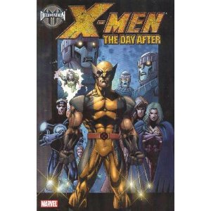 Decimation: X-Men - The Day After (House of M)  [Paperback]       Chris Claremont  (Author),  Peter Milligan  (Author),  Salvador Larroca  (Illustrator),  Randy Green  (Illustrator)      11 new  from  $27.00       22 used  from  $12.97        It was the worst day in X-Men history. Now it's the day after. The House of M is over, but the effects will be felt for the rest of their lives. How do the X-Men pick up the pieces in a world that has completely changed? Plus: Something's amiss at the House of Xavier! A sneak attack forces the X-Men to re-evaluate just who their friends are, and to align themselves with former enemies! Collects Decimation: House of M - The Day After and X-Men #177-181.