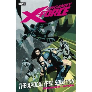 Uncanny X-Force, Vol. 1: The Apocalypse Solution [Paperback] Rick Remender (Author), Jerome Opena (Illustrator), Leonardo Manco (Illustrator) $9.45  The X-Men do not kill. But when Apocalypse - the mutant despot who has countless times brought humanity to the brink of destruction - returns, Wolverine knows there's only one solution: the recently reconstituted X-Force! The new team - consisting of Deadpool, Archangel, Psylocke and Fantomex - must destroy En Sabah Nur. But can Wolverine's secret team survive Apocalypse's deadly Final Horsemen? And even if they do, can they kill the reborn Apocalypse when the greatest threat the world has ever faced is now no more than an innocent child?