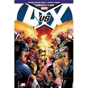 Avengers vs. X-Men  [Hardcover]       Brian Michael Bendis  (Author),  Jason Aaron  (Author),  Ed Brubaker  (Author),  Jonathan Hickman  (Author),  Matt Fraction  (Author),  Frank Cho  (Illustrator),  John Romita  (Illustrator)      $45.00            The Avengers and the X-Men - the two most popular super-hero teams in history - go to war! This landmark pop-culture event brings together Iron Man, Captain America, Thor, Hulk, Black Widow, Spider-Man, Wolverine, Cyclops, Storm, Magneto and more in the story that changes them forever! And in AVX: Vs., experience the larger-than-life battles too big for any other comic to contain! Iron Man vs. Magneto! Spider-Man vs. Colossus! Captain America vs. Gambit! And more!