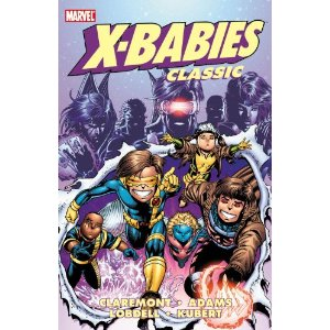 X-Babies Classic - Volume 1 (X-Babies Classics) [Paperback] Chris Claremont (Author), Scott Lobdell (Author), Arthur Adams (Illustrator), Andy Kubert (Illustrator) 9 new from $14.34 9 used from $4.83 They're young, they're proud, they're cantankerous! They are the mighty X-Babies! Seeking to capitalize on the success of the X-Men broadcasts to his race of couch potatoes, otherdimensional media mogul Mojo gets a new idea that is sure to be a hit: revert the mutant heroes into babies! And if that doesn't work, he'll just create his own X-Babies!