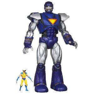 Marvel Universe Masterworks Sentinel     by  Hasbro      $48.78    Product Features      Sentinel measures a monstrous 17 inches tall and is packed with electronic features   includes a huge bank of battle sounds   Also includes a 3.75? Wolverine figure   This lumbering giant means business   He's ready to take out the X-Men