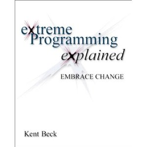 Extreme Programming Explained: Embrace Change  [Paperback]        Kent Beck   (Author)      19 new  from  $7.68       83 used  from  $0.01       1 collectible  from  $3.82        The new concept of Extreme Programming (XP) is gaining more and more acceptance, partially because it is controversial, but primarily because it is particularly well-suited to help the small software development team succeed. This book serves as the introduction to XP that the market will need. XP is controversial, many software development sacred cows don't make the cut in XP; it forces practitioners to take a fresh look at how software is developed.