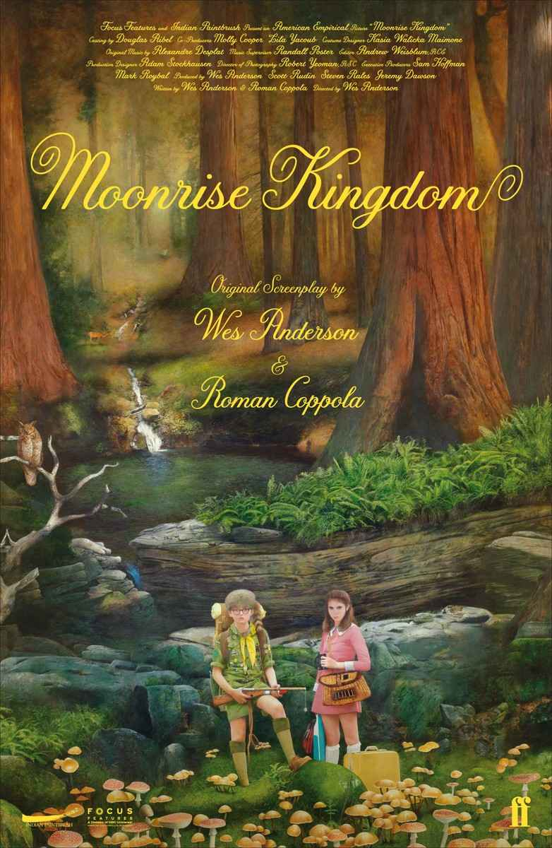 Moonrise Kingdom [Kindle Edition]  Wes Anderson (Author)    $5.99 includes free wireless delivery via Amazon Whispernet    Moonrise Kingdom is set in 1965 on an island off the coast of New England. It's the end of the summer and the seasonal hurricanes loom on the horizon. Set against this background is a romance between two twelve-year-olds: Lucy Bishop, (who lives on the island with her parents [Bill Murray and Frances McDormand] and three younger brothers) and Sam (an orphan who is camping on the island with the Khaki Scout troop). Lucy and Sam hatch a secret plan to run away, and undertake a perilous journey though the woods and across the streams that criss-cross the island, to an isolated cove, where they set up their kingdom.