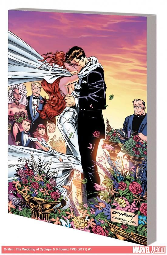 X-Men: The Wedding of Cyclops & Phoenix  [Paperback]       Fabian Nicieza  (Author),   Scott Lobdell   (Author),  Glenn Herdling  (Author),  Kurt Busiek  (Author),  Richard Bennett  (Illustrator), Andy Kubert  (Illustrator),  Aron Wiesenfeld  (Illustrator),  Ian Churchill  (Illustrator)      $18.81            These are tense times for the X-Men. The Legacy virus, which has already killed many mutants both friend and foe, threatens to become a worldwide epidemic. Professor X has captured Sabretooth and locked him in the mansion basement, hoping to eventually cure his raging bloodlust. But amid the darkness, a ray of light shines - as longtime lovebirds Cyclops and Phoenix announce their engagement!
