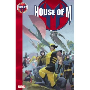 House of M [Paperback] Brian Michael Bendis (Author), Olivier Coipel (Illustrator) $16.16  The Marvel event of the decade is here! The Avengers and the X-Men are faced with a common foe that becomes their greatest threat: Wanda Maximoff! The Scarlet Witch is out of control, and the fate of the entire world is in her hands. Will Magneto help his daughter or use her powers to his own benefit? Starring the Astonishing X-Men and the New Avengers! You know how sometimes you hear the phrase: and nothing will ever be the same again? Well, this time believe it, buster!