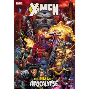 X-Men: Age of Apocalypse [Hardcover] Scott Lobdell (Author), Mark Waid (Author), Fabian Nicieza (Author), Jeph Loeb (Author), Roger Cruz (Illustrator), Ron Garney (Illustrator), Andy Kubert (Illustrator), Ian Churchill (Illustrator) $73.27  Charles Xavier is dead - killed twenty years in the past during a freak time-travel accident - and the world that has arisen in his absence is dark and dangerous indeed. The Darwinian conqueror Apocalypse rules with an iron fist, ruthlessly enforcing his dictum that only the strong shall survive - and in Apocalypse's long shadow, hidden among a downtrodden humankind, are a group of ragtag freedom fighters led by Xavier's oldest friend, Magneto: the Amazing X-Men! When Bishop, last survivor of the true Marvel Universe, locates the X-Men and explains how the world went wrong, these embittered mutants and their tenuous allies must risk everything - and undertake a dangerous and multi-pronged quest - to put things right!