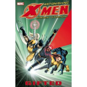 "Astonishing X-Men Vol. 1: Gifted  [Paperback]        Joss Whedon   (Author),   John Cassaday   (Illustrator)      $10.19            Dream-team creators Joss Whedon (TV's Buffy the Vampire Slayer) and John Cassaday (Planetary, Captain America) present the explosive flagship X-Men series - marking a return to classic greatness and the beginning of a brand-new era for the X-Men! Cyclops and Emma Frost re-form the X-Men with the express purpose of ""astonishing"" the world. But when breaking news regarding the mutant gene unexpectedly hits the airwaves, will it derail their new plans before they even get started?"