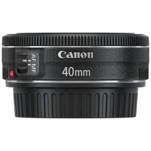 Canon 40mm EF f/2.8 STM Lens $199.00  Technical Details Ultra-slim and lightweight design Aspherical lens element delivers high image quality from the center to the periphery Advanced optical design enables a bright f/2.8, compact optical system at 40mm Optimized lens coatings ensure exceptional color balance while minimizing ghosting and flare Built-in stepping motor provides smooth and quiet autofocus when shooting video with Canon EOS Rebel T4i DSLR