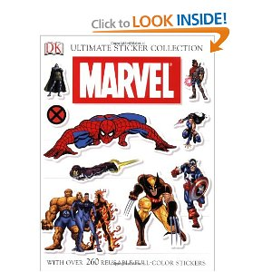 Ultimate Sticker Collection: Marvel (Ultimate Sticker Books) [Paperback] DK Publishing (Author) $9.99  Featuring Spider-Man, the X-Men, the Fantastic Four, and the Avengers, this super-sized sticker collection packs all the excitement of the Marvel Universe into one incredible book. With over 300 reusable, full-cover stickers!