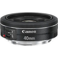 "Canon EF 40mm f/2.8 STM Pancake Lens Price: $199.00 Product Highlights STM - Continuous Autofocus for Shooting Video Bright f/2.8 Aperture Lightweight 4.6 oz Lens Unobtrusive—Less Than 1"" Long Aspherical Element—High Image Quality Optimized Coatings Reduce Ghost & Flare Exceptional Color Balance 7-Blade Diaphragm for Beautiful Bokeh Close Focusing to 11.81"" 64mm Equivalent If Used on APS-C Camera"