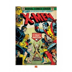 "X-Men - Marvel Comics Art Print / Poster (Cover) (Size: 24"" x 36"")     by  Posterstoponline        $14.99      Product Features      X-Men Art Print   Printed on heavy stock art print paper   Size: 24"" x 32""   Ships in stury cardboard packaging"