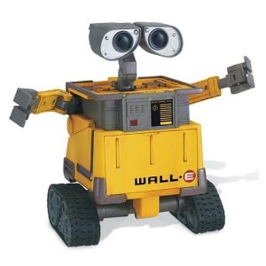 Wall-E Transforming Wall-E 6 new from $124.00 1 collectible from $79.99 Product Features Transform Wall E from a cube to fully pose-able robot in seconds with awesome press ?n pop action Press separate buttons release wheels, arms and head during transformation. Press wheels together and press down on Wall E, gently press arms into body and head down into body Freewheeling action Flip front panel down to reveal trash image
