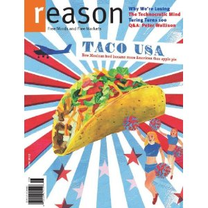Reason (1-year auto-renewal)         $14.97   ($1.36/issue)    & shipping is always free      Reason is the monthly print magazine of free minds and free markets. It covers politics, culture, and ideas through a provocative mix of news, analysis, commentary, and reviews. Reason provides a refreshing alternative to right-wing and left-wing opinion magazines by making a principled case for liberty and individual choice in all areas of human activity.