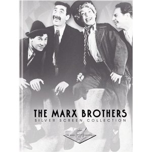 The Marx Brothers Silver Screen Collection (The Cocoanuts / Animal Crackers / Monkey Business / Horse Feathers / Duck Soup) (1930) $45.99  Celebrate the 75th anniversary of the greatest comedy act in history with The Marx Brothers Silver Screen Collection. This essential DVD set features the legendary four Marx Brothers in five of their most acclaimed and best loved films - Duck Soup, Horse Feathers, Monkey Business, Animal Crackers and The Cocoanuts - the only five movies ever made with all four brothers together: Groucho, Chico, Harpo and Zeppo!
