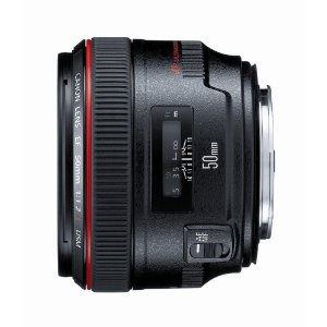 Canon EF 50mm f/1.2 L USM Lens for Canon Digital SLR Cameras     by  Canon        $1,618.00      Technical Details      High-performance, weather-resistant standard lens   AF with full-time manual focus   50mm focal length   f1.2 Maximum aperture; 72mm filter size   UltraSonic Motor (USM)   The focal length is 50mm