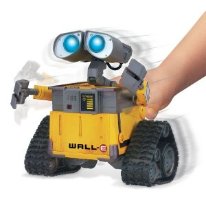 "WALL-E Interactive WALL-E - $129.99 Product Description From the Manufacturer WALL-E Interaction WALL-E has original voice and SFX,it lights up eyes and it is fully poseable with free wheeling , motorized head and arm movement. Product Description Interaction Wall-E stands approximately 7"" tall and comes with free-wheeling actions, voice, lights and sounds. It responds to your voice as well as interacts with other figures from the Interaction line."