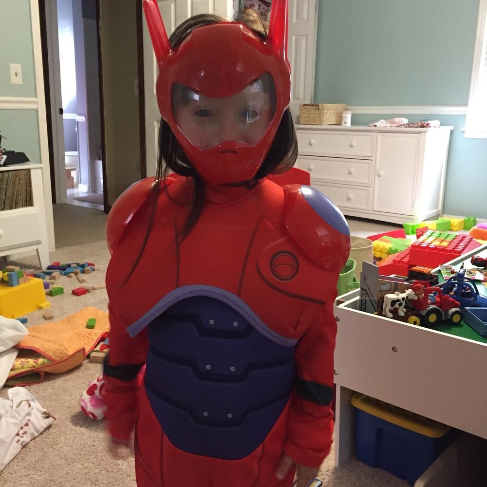 Penelope's Baymax Halloween costume