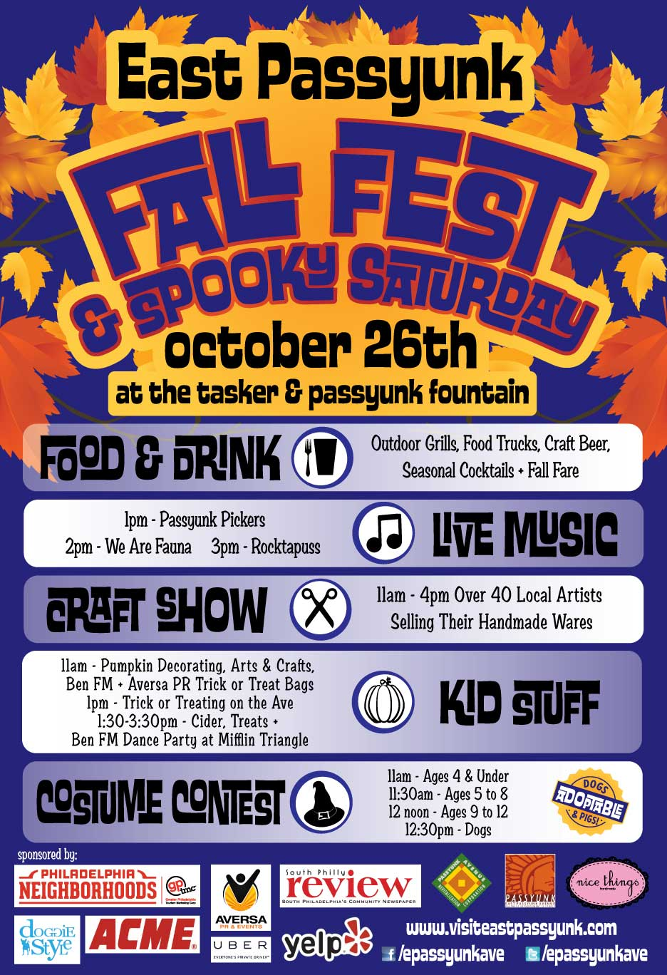 Fall Fest and Spooky Saturday East Passyunk