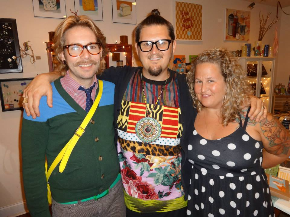 Jay McCarroll from Project Runway was spotted at Nice Things..Handmade during last month's Second Saturday.