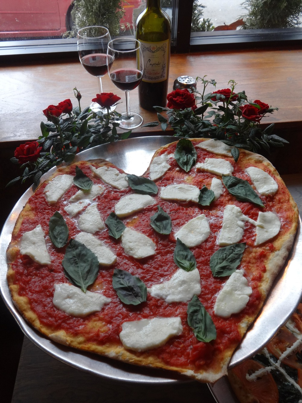 Slice Heart Shaped Pizza Philadelphia Valentine's Day