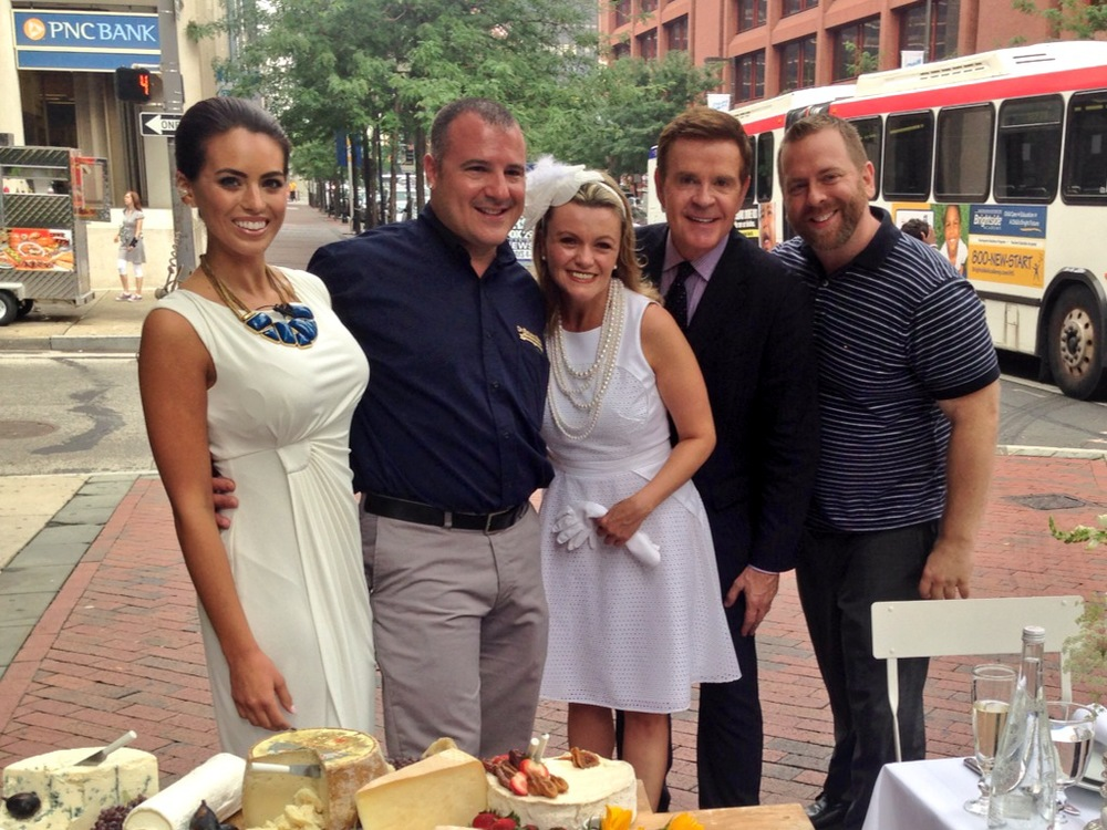 Diner en Blanc, Philadelphia, PR, TV Shoot, Fox 29, Good Day Philadelphia, Mike Jerrick
