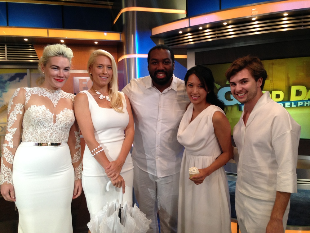 Diner en Blanc, Philadelphia, PR, TV Shoot, Fox 29, Good Day Philadelphia, Sue Serio