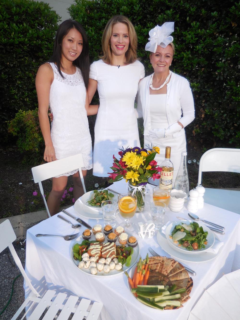 Diner en Blanc, Diner en Blanc Philadelphia, Debphl, Debphl14, CBS, CBS Philly, PR, Media Shoot, TV shoot