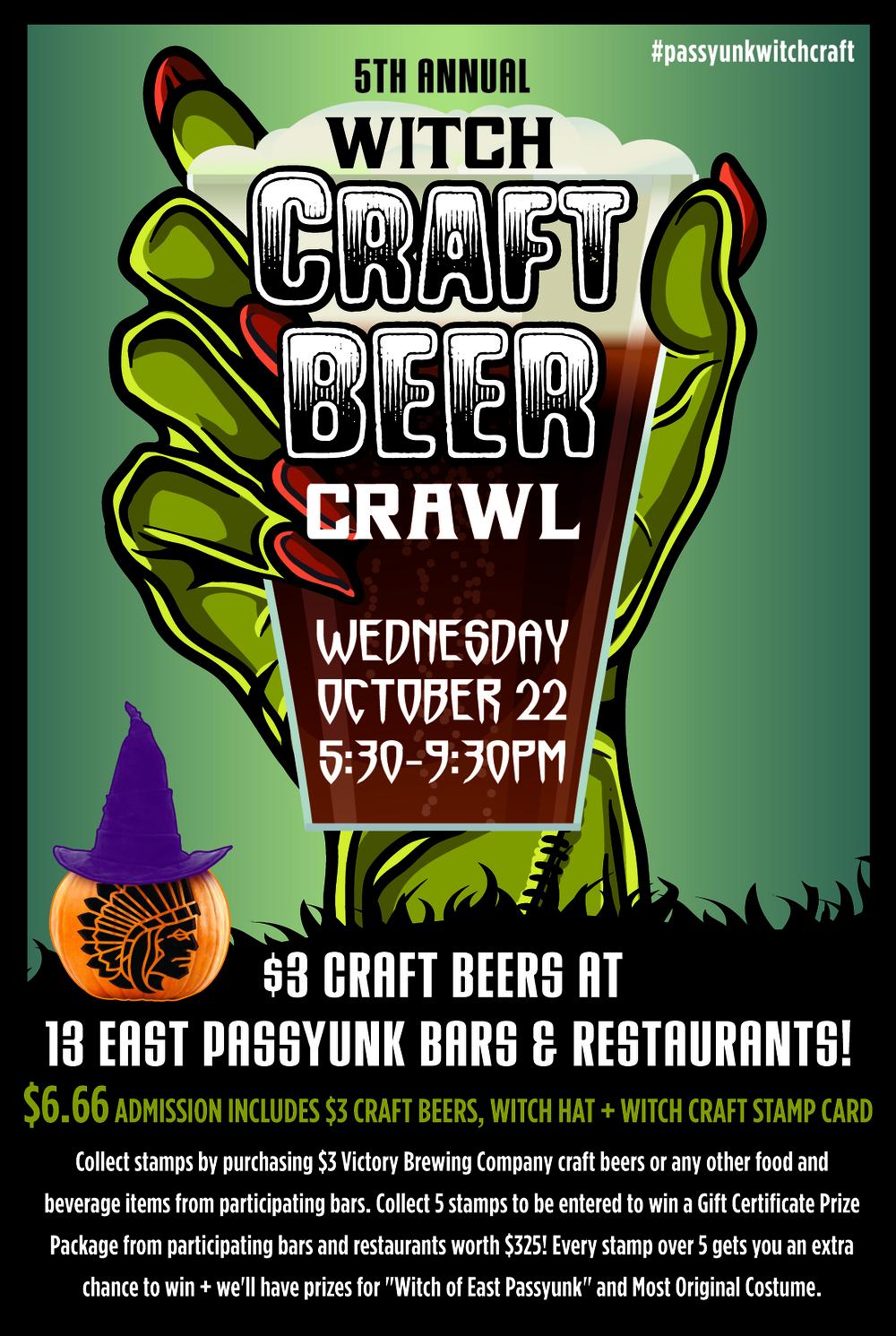 East Passyunk, Witch Craft Beer Crawl, Philadelphia, Halloween