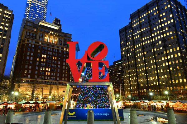 Christmas Village, Philadelphia, Holiday, Love Park