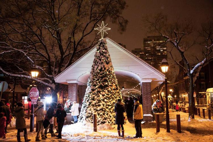 south street headhouse district celebrates winter wonderland with