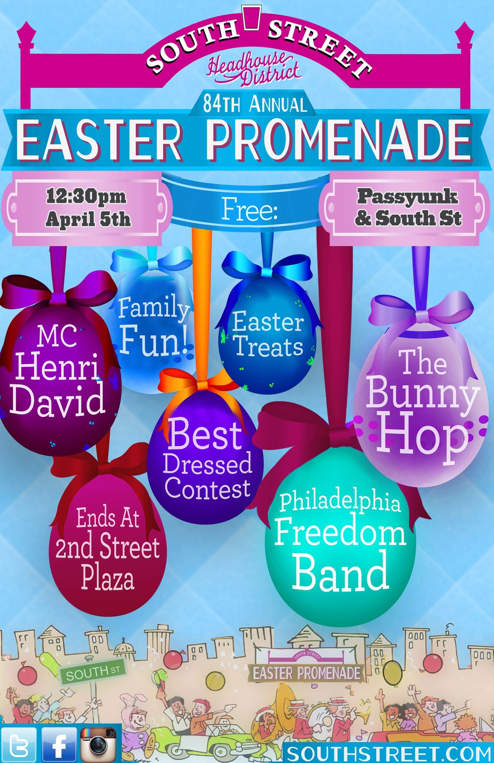 84th Annual Easter Promenade on South Street Sunday, April 5, 2015