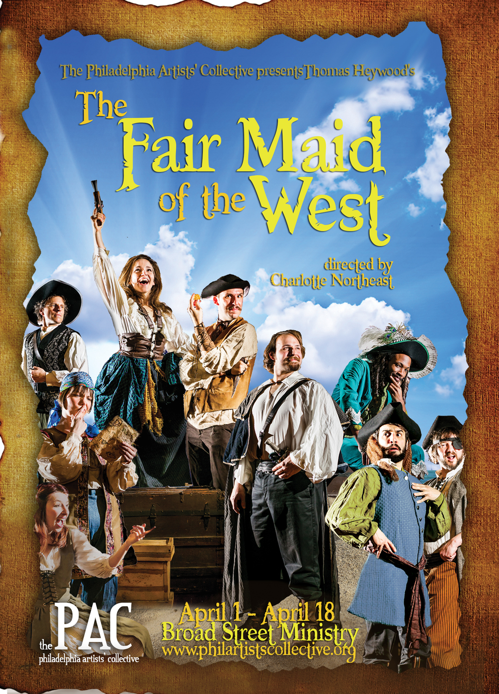 tHE fAIR mAID OF THE wEST PRESENTED BY tHE PHILADELPHIA ARTISTS' COLLECTIVE aPRIL 1-18, 2015