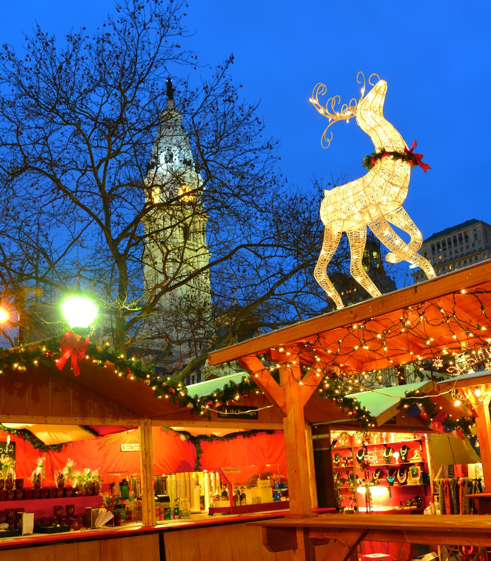 Returns November 2017 Christmas village in philadelphia