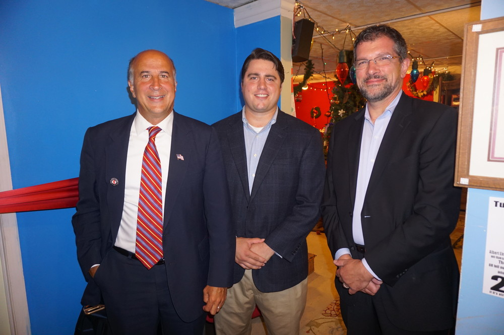 Councilman Mark Squilla, Representative of Senator Larry Farnese - George Farrell, South Street Headhouse District Executive Director Michael Harris.JPG