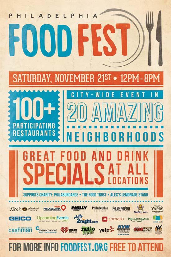 Food Fest, Restaurant Crawl, Philadelphia