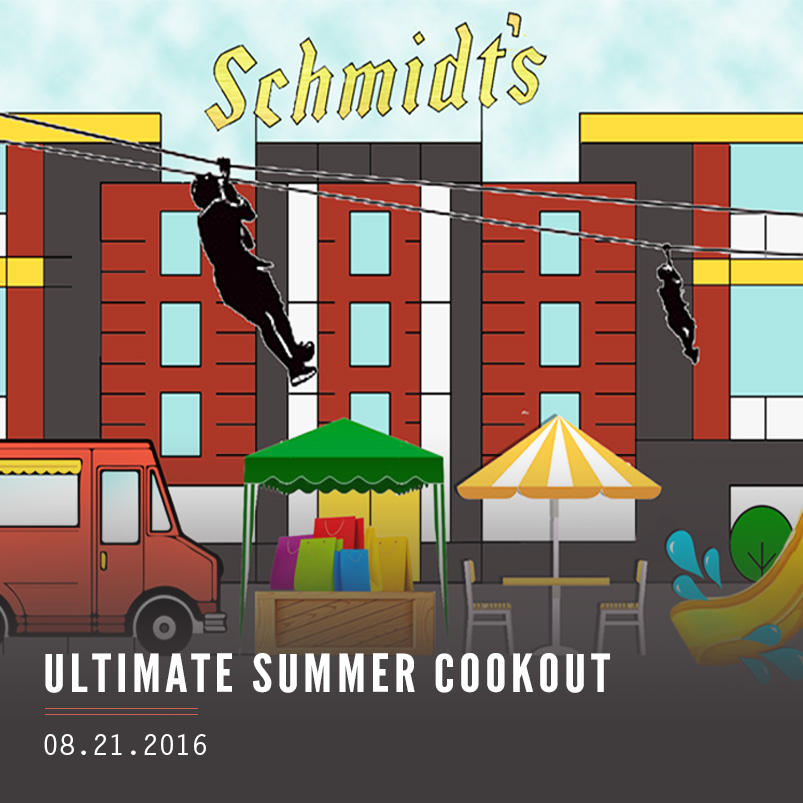 The ultimate summer cookout at the piazza at Schmidt's commons Sunday, August 21, 2016