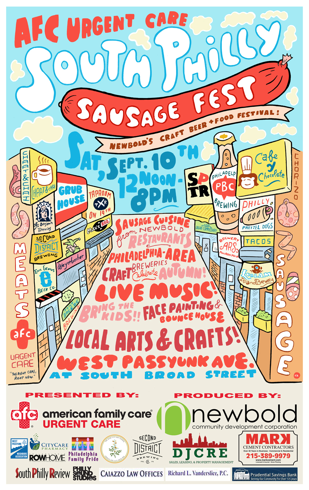 South Philly SausageFest, West Passyunk, Newbold CDC, South Philly, Taproom on 19th