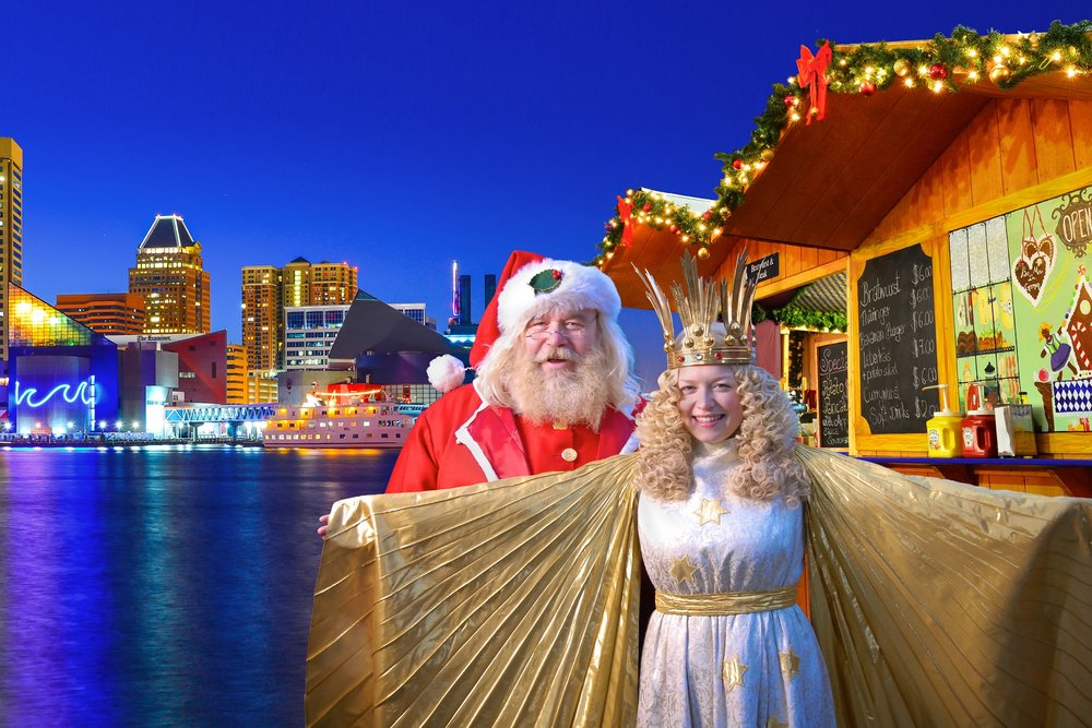 Christmas Village Baltimore German Christkind Santa