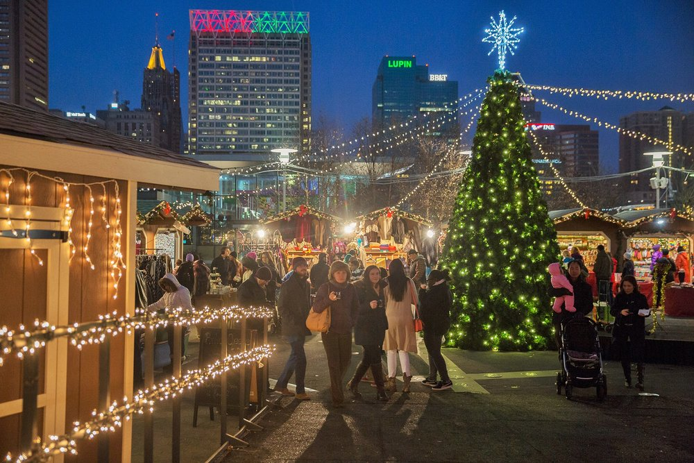 Christmas Village Baltimore, Inner Harbor, Christmas Maryland, Maryland, West Shore Park