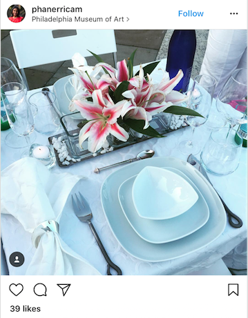 In case you didn't know- the flowers at Diner En Blanc do not have to be white. We love these unique flowers as a popping centerpiece.