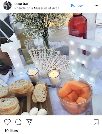 Personalize your table! Initials are a classy way to make your spread all your own.
