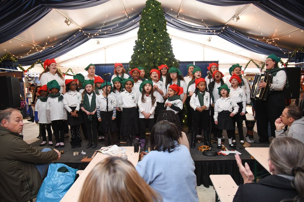 Christmas Village Choir Performance